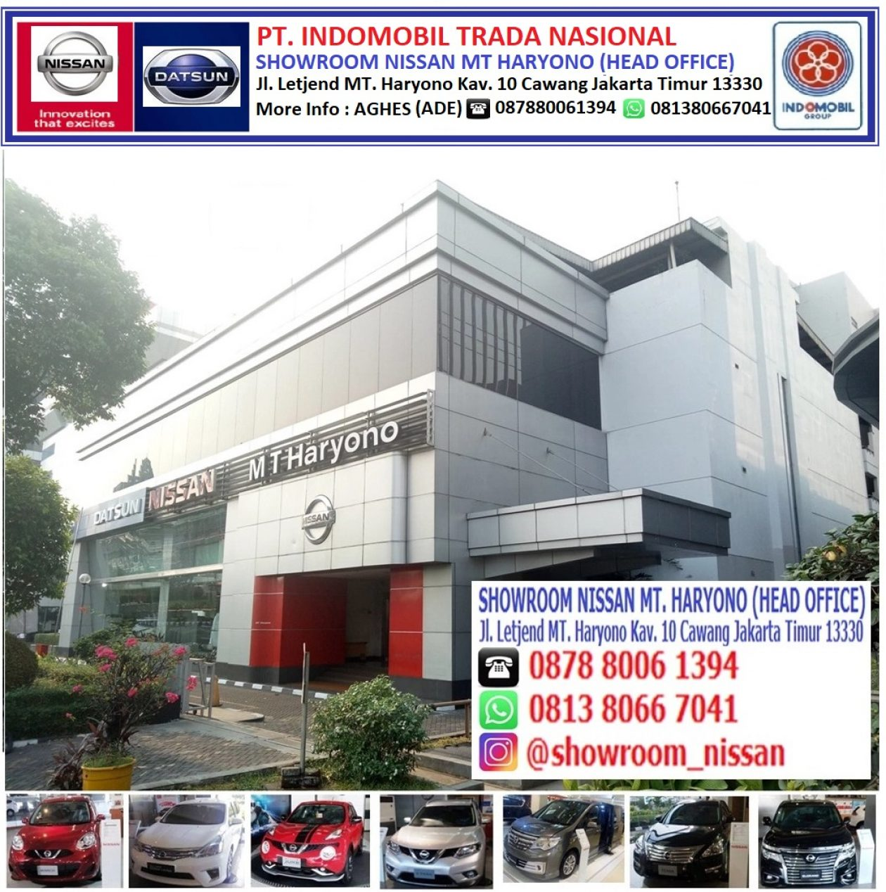 Nissan MT Haryono (Head Office) AGHES          ☎ 081380667041/087880061394